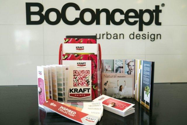 Νέα συνεργασία Kraft Paints – BoConcept
